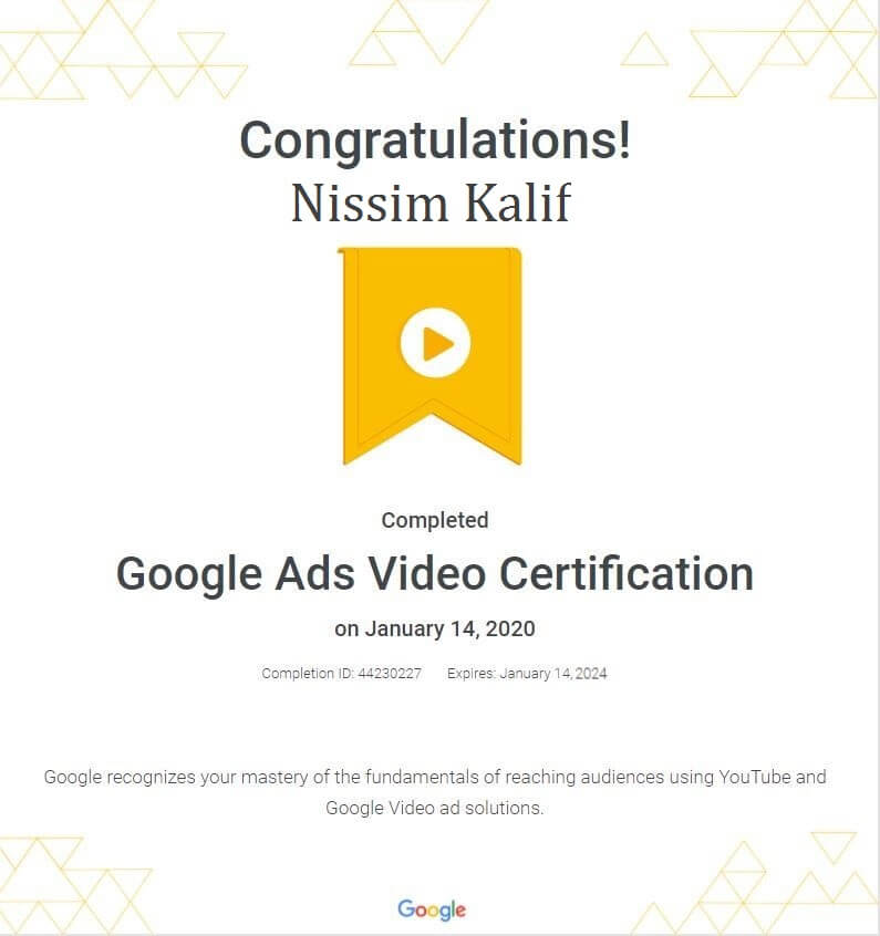 google ads video
